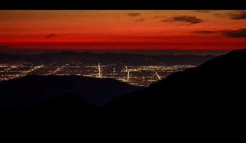 繁华城市夜景速拍