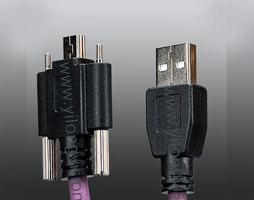 工业相机专用Micro USB2.0高柔带螺丝锁扣线材