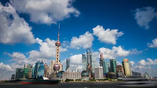 繁华城市上海宣传