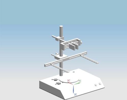 旋转盘视觉源实验架