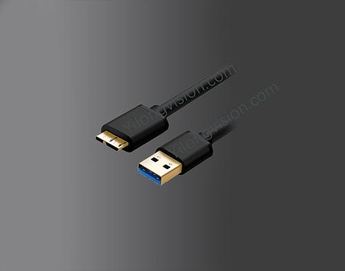 工业相机专用Micro USB3.0高柔带螺丝锁扣线材